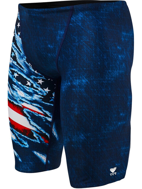 TYR Live Free Allover Jammer Men red/white/blue